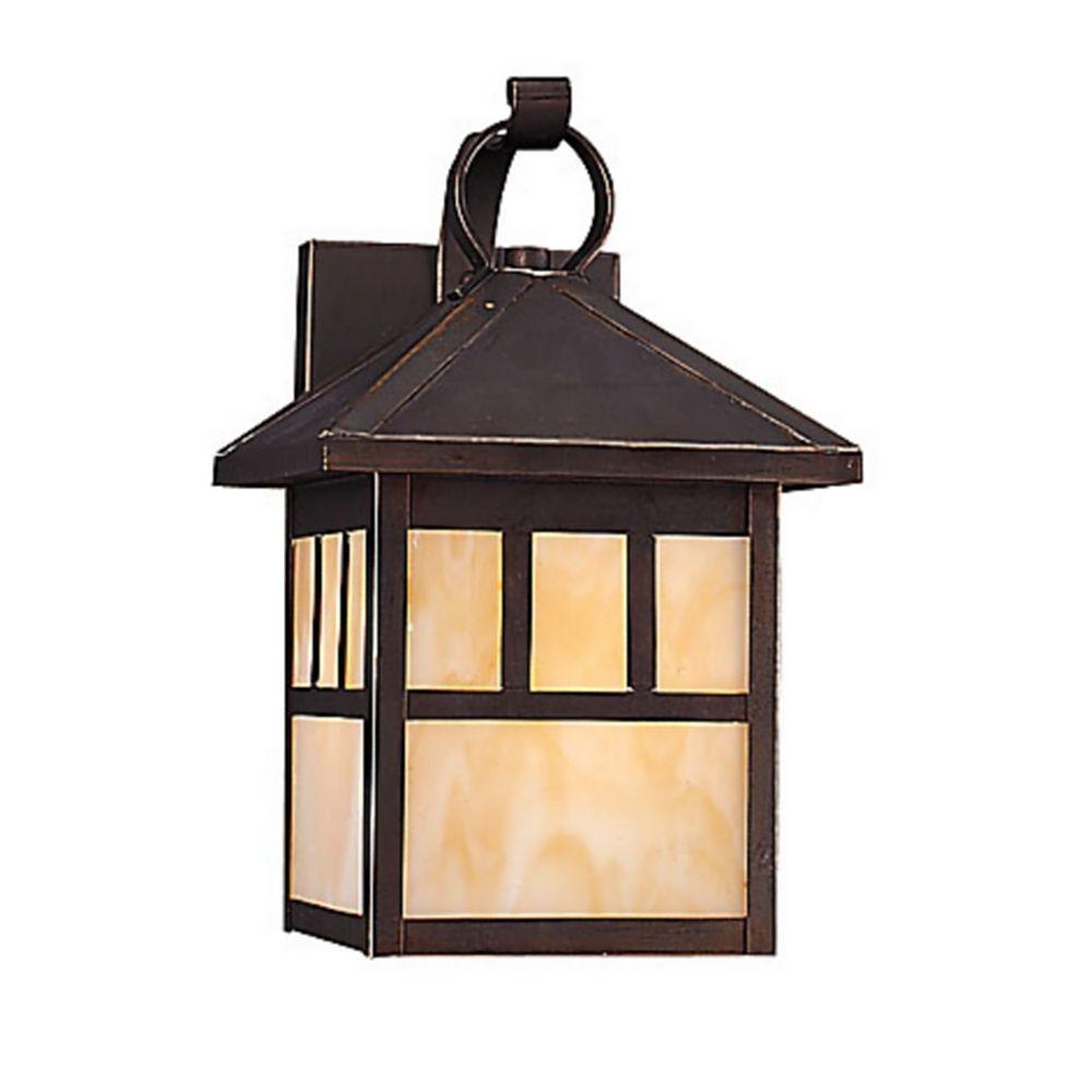 Sea Gull Lighting Prairie Statement 1-Light Outdoor Antique Bronze Wall Fixture