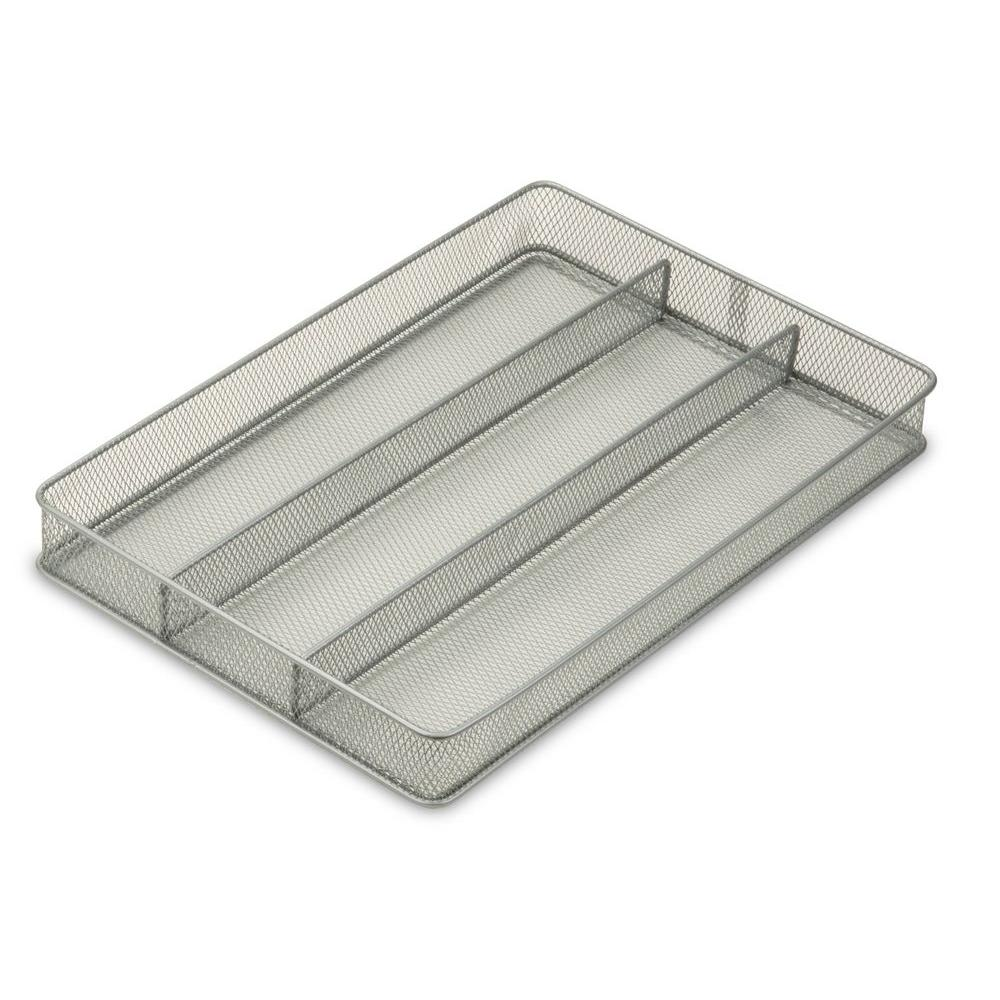 Honey-Can-Do 2 in. x 11 in. x 16 in. Steel Mesh Drawer Organizer Tray
