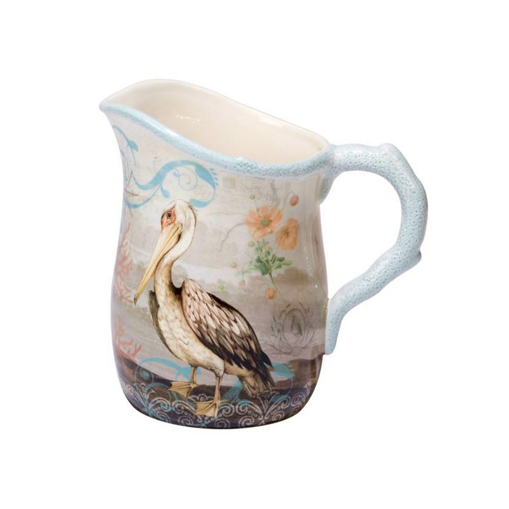 Coastal View 88 oz. Multi-Colored Pitcher