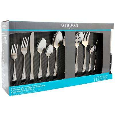 Brantley 102-Piece Service for 12-Flatware Set