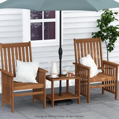 Tioman Hardwood Outdoor Mississippi Side Table with Umbrella Hole