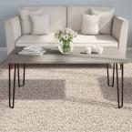 42 in. Driftwood Gray Large Rectangle Wood Coffee Table with Hairpin Legs