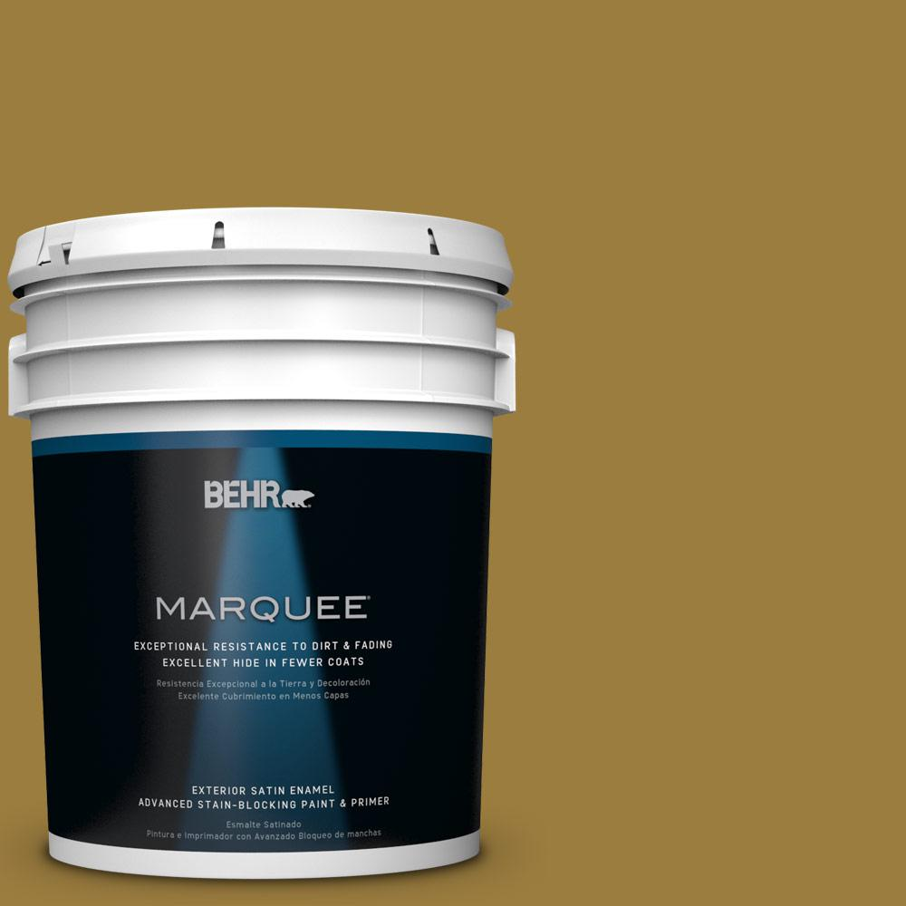 BEHR MARQUEE 5-gal. #S-H-380 Burnished Bronze Satin Enamel Exterior Paint