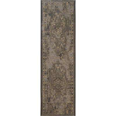 Palazzo Black/Cream 2 ft. x 7 ft. Runner Rug