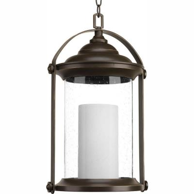 Whitacre Collection Antique Bronze Integrated LED Outdoor Hanging Lantern