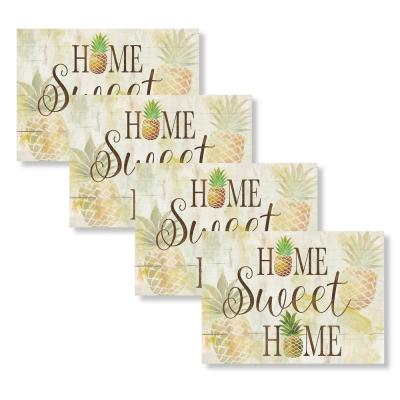 Sweet Home Pineapple 18 in. W x 13 in. L Polypropylene 4-pack Placemat Set