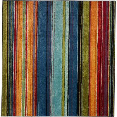 Rainbow Multi 10 ft. x 10 ft. Square Indoor Area Rug