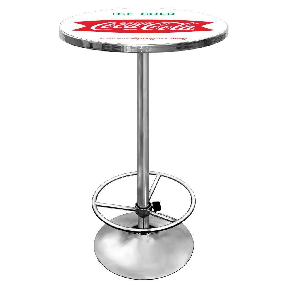 Ice Cold Design Vintage Coca-Cola Chrome Pub/Bar Table