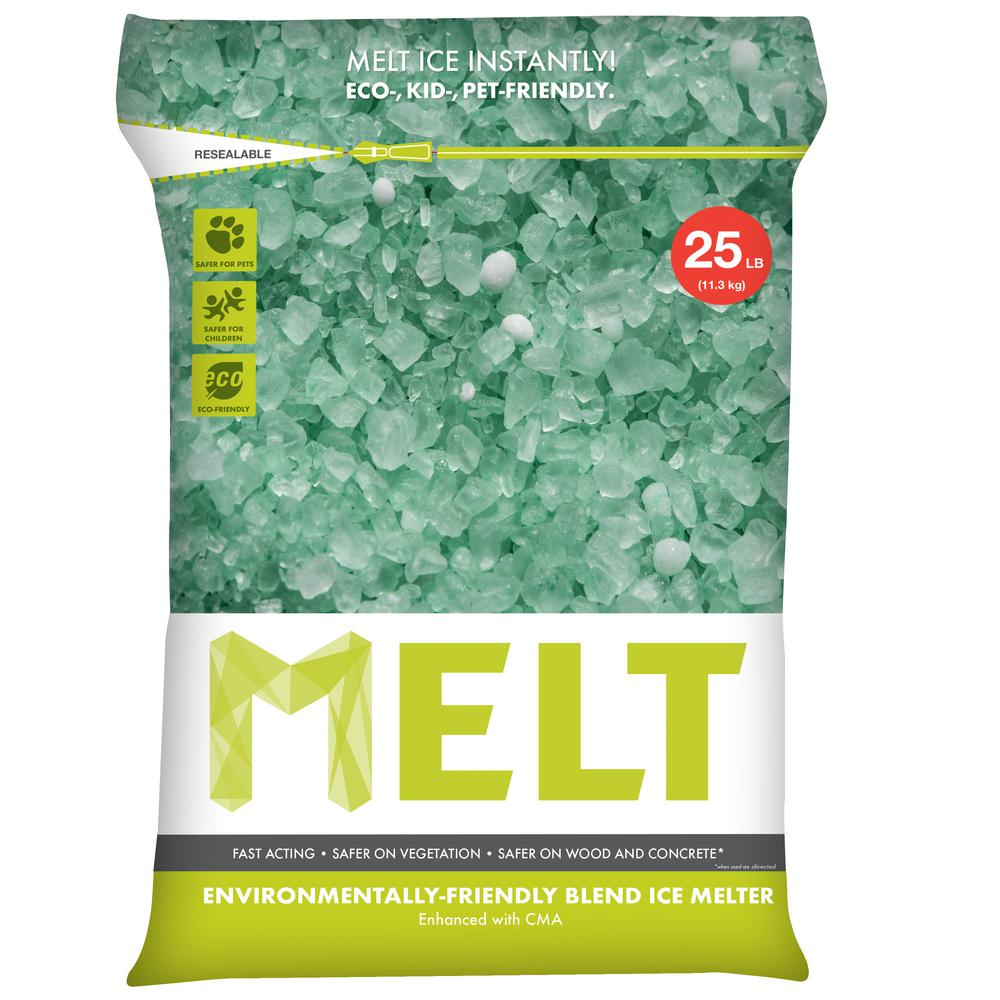 Melt 25 lb. Re-Sealable Bag Premium Environmentally Friendly Blend Ice Melter