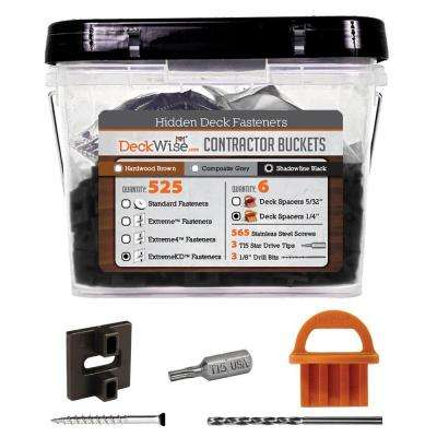 ExtremeKD Ipe Clip Black Biscuit Style Hidden Deck Fastener Kit for Hardwoods (525-Bucket)