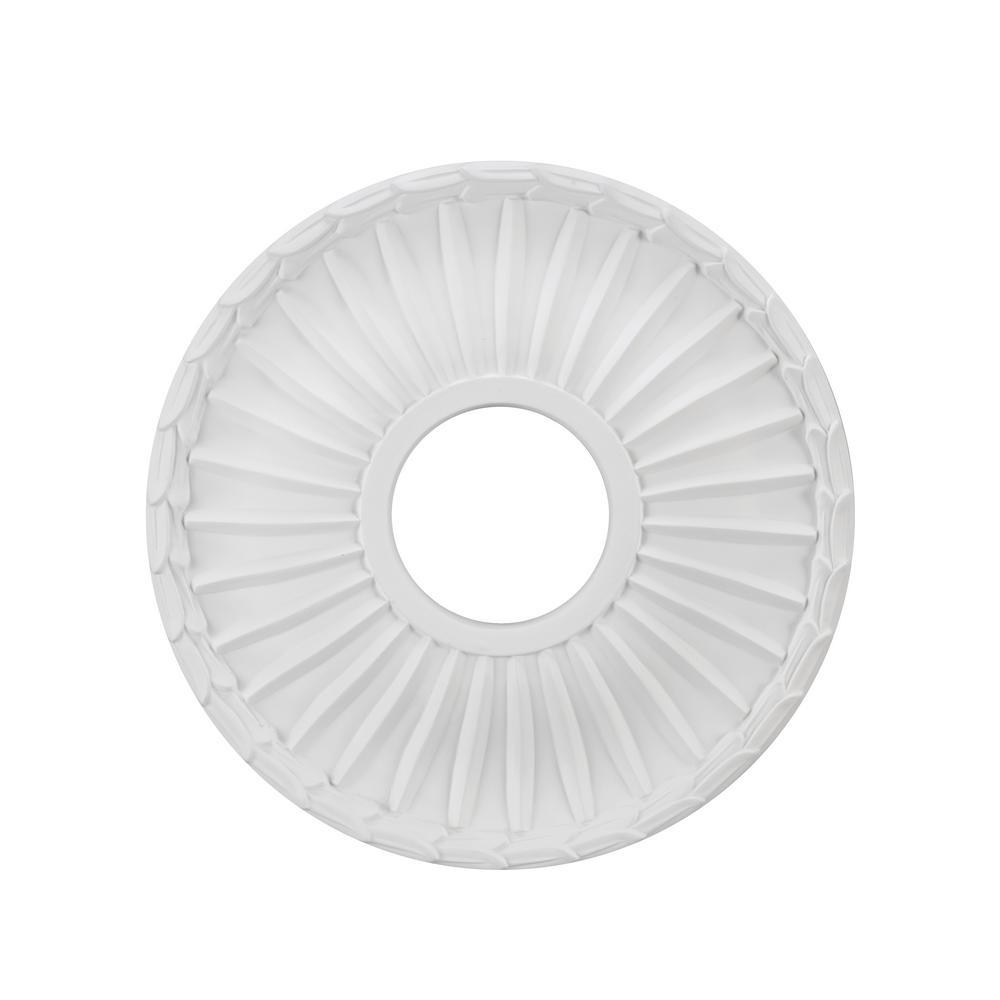 13 in. White Ceiling Medallion
