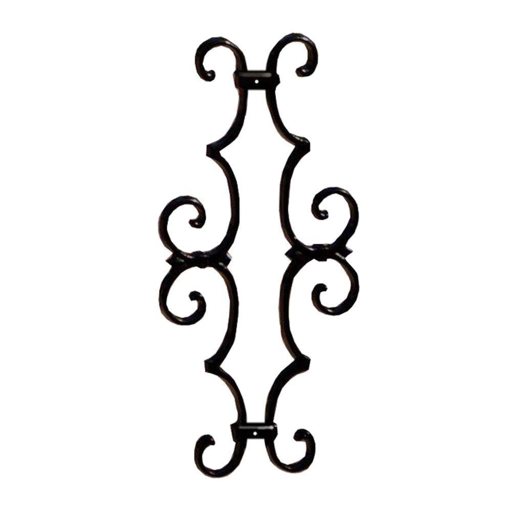 DeckoRail 7.375 in. x 14.75 in. Black Aluminum Fleur-De-Lis Centerpiece