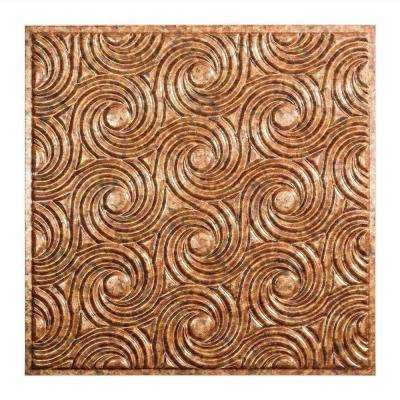 Cyclone - 2 ft. x 2 ft. Lay-in Ceiling Tile in Cracked Copper