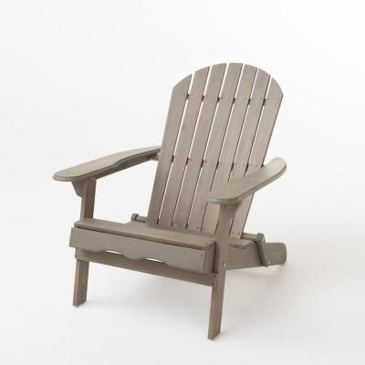 Obadiah Grey Folding Wood Adirondack Chair