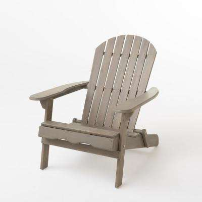 Awe Inspiring Obadiah Grey Folding Wood Adirondack Chair Download Free Architecture Designs Pushbritishbridgeorg