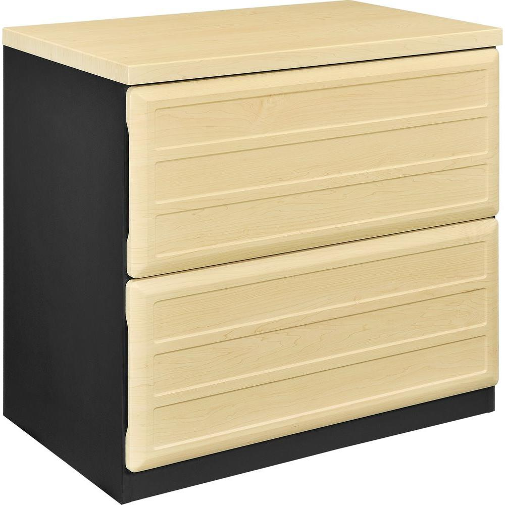 Ameriwood Mansfield Natural and Gray File Cabinet, Natura...