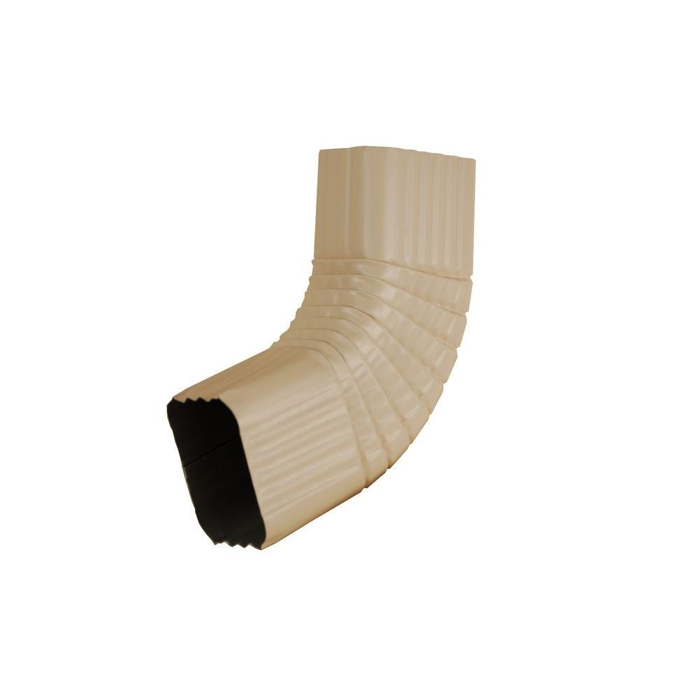 Amerimax Home Products 3 in. x 4 in. Light Maple Aluminum Downspout B Elbow