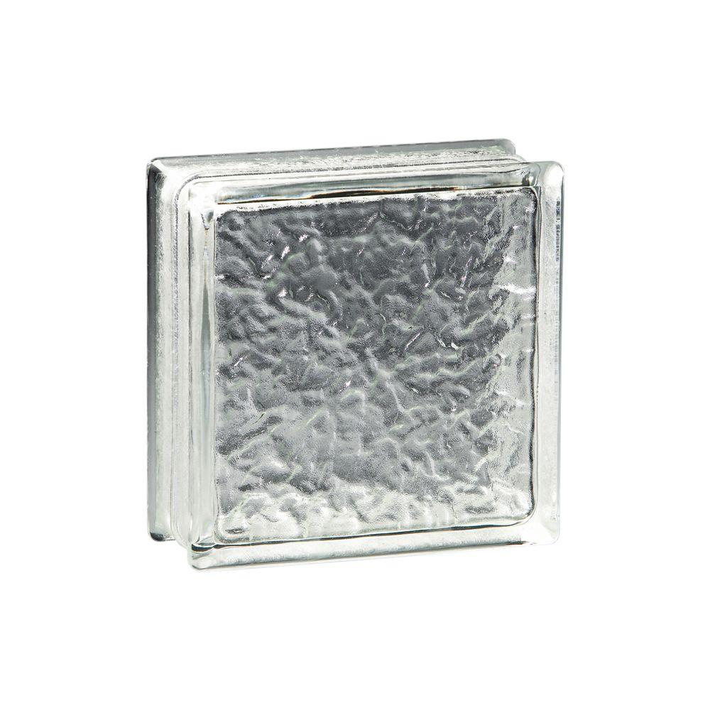 Pittsburgh Corning Premiere 8 in. x 8 in. x 4 in. IceScapes Glass Blocks (8-Pack)