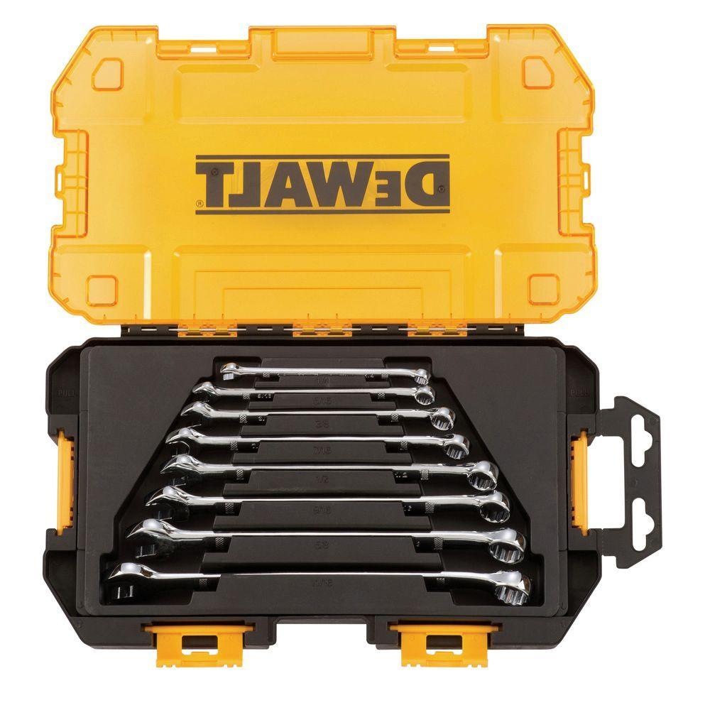 Click here to buy Dewalt SAE Combination Wrench Set (8-Piece) by DEWALT.