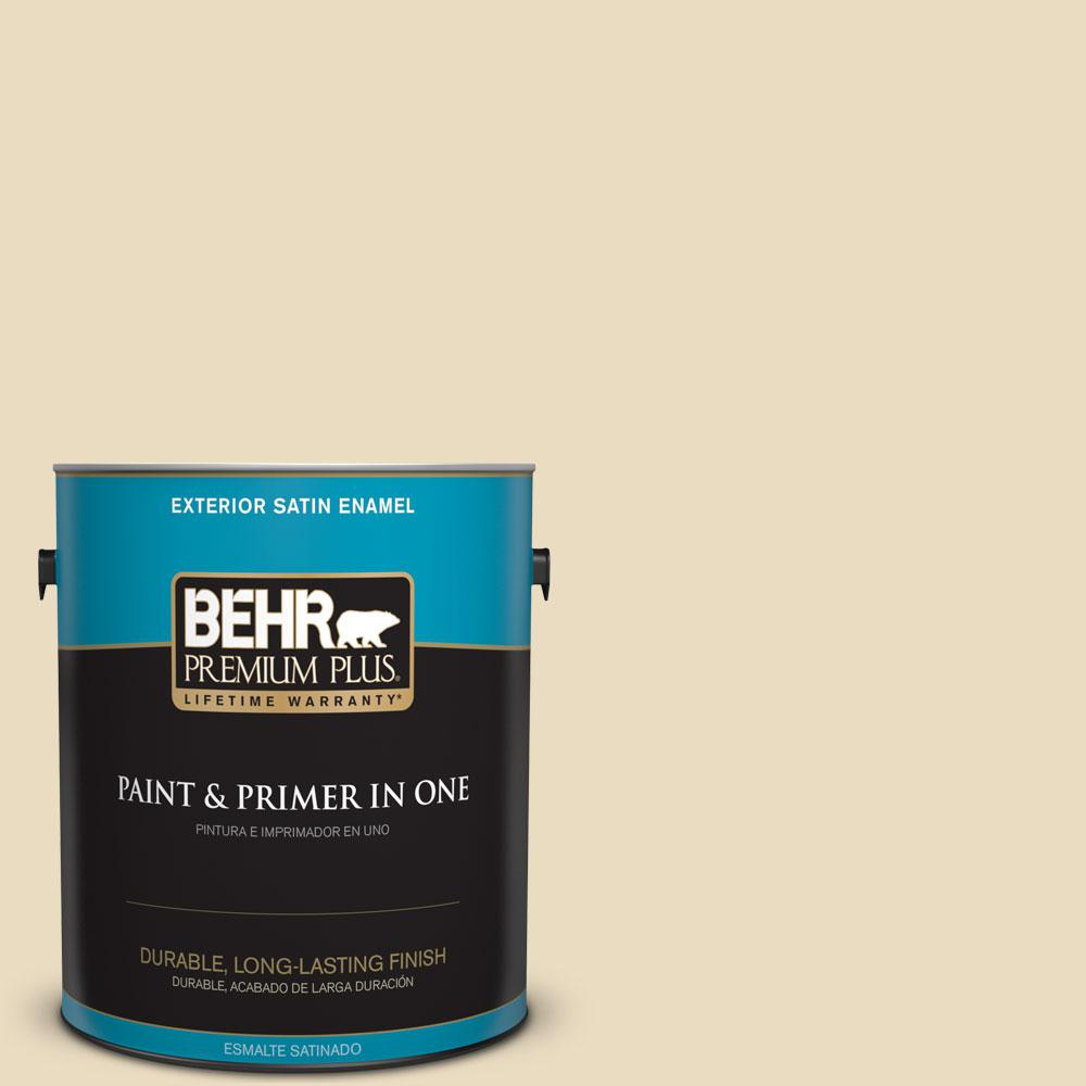 22 Navajo White Satin Enamel Exterior Paint And Primer In One