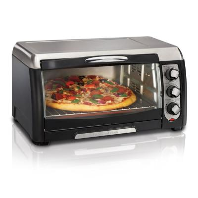6 Slice Easy Clean Black Toaster Oven