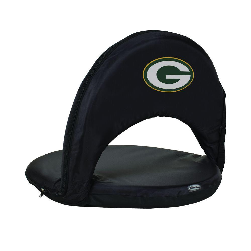 Oniva Green Bay Packers Black Patio Sports Chair with Digital Logo