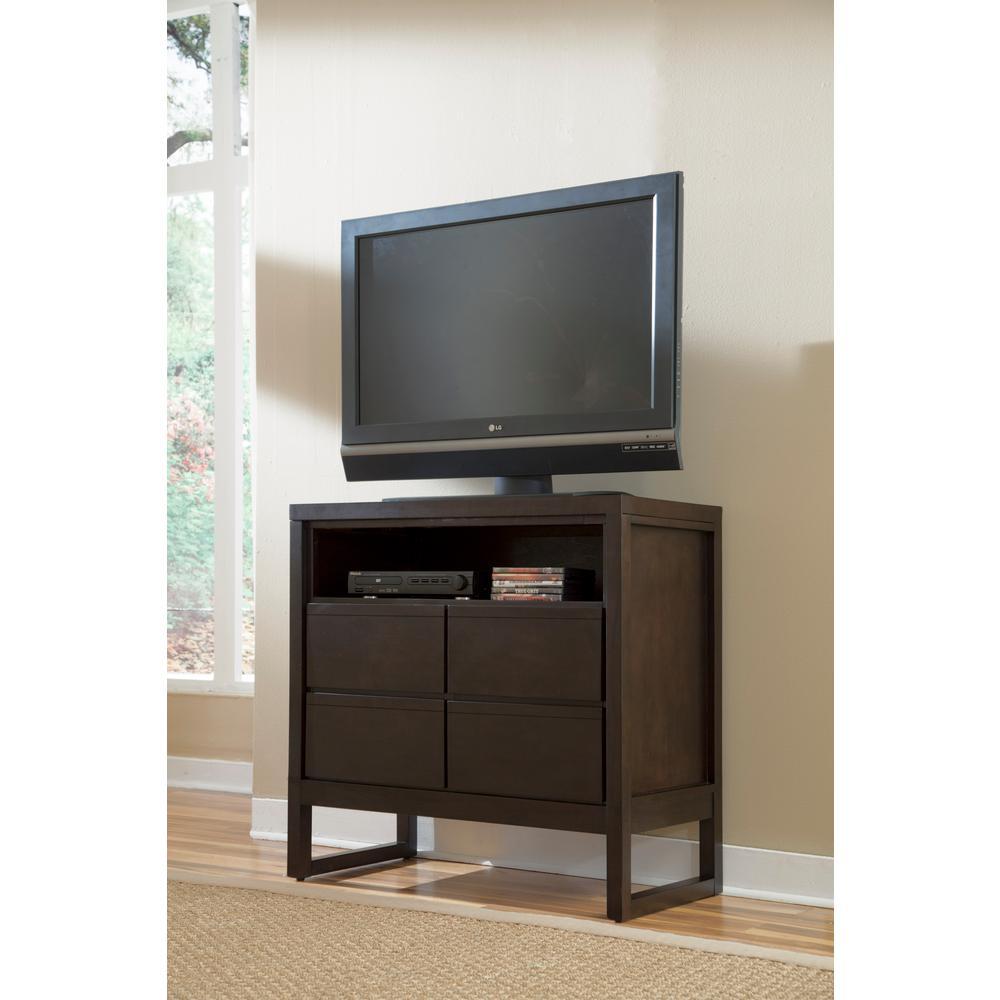 Progressive Furniture Athena 4-Drawer Dark Chocolate Media Chest P109-46