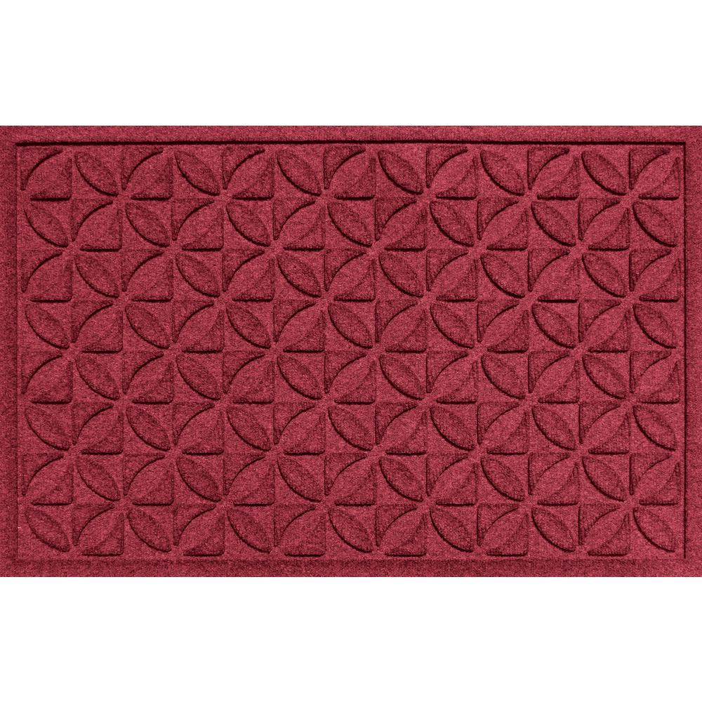 Plaid Red Black 24 in. x 36 in. Polypropylene Door Mat