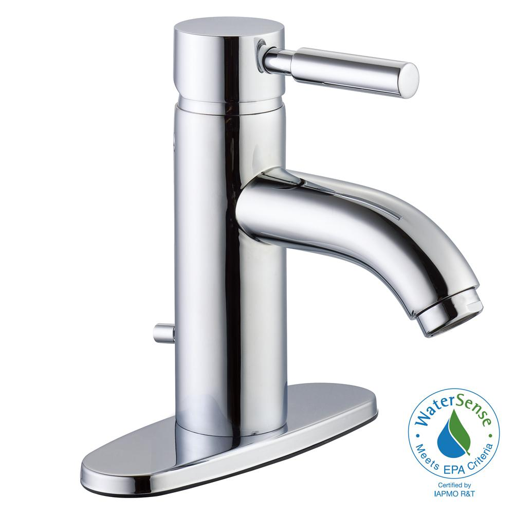 Euro 4 in. Centerset 1-Handle Bathroom Faucet in Chrome