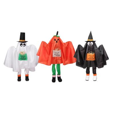 36 in. Ghost Pumpkin and Bat Standing Halloween Kid Figures (Set of 3)