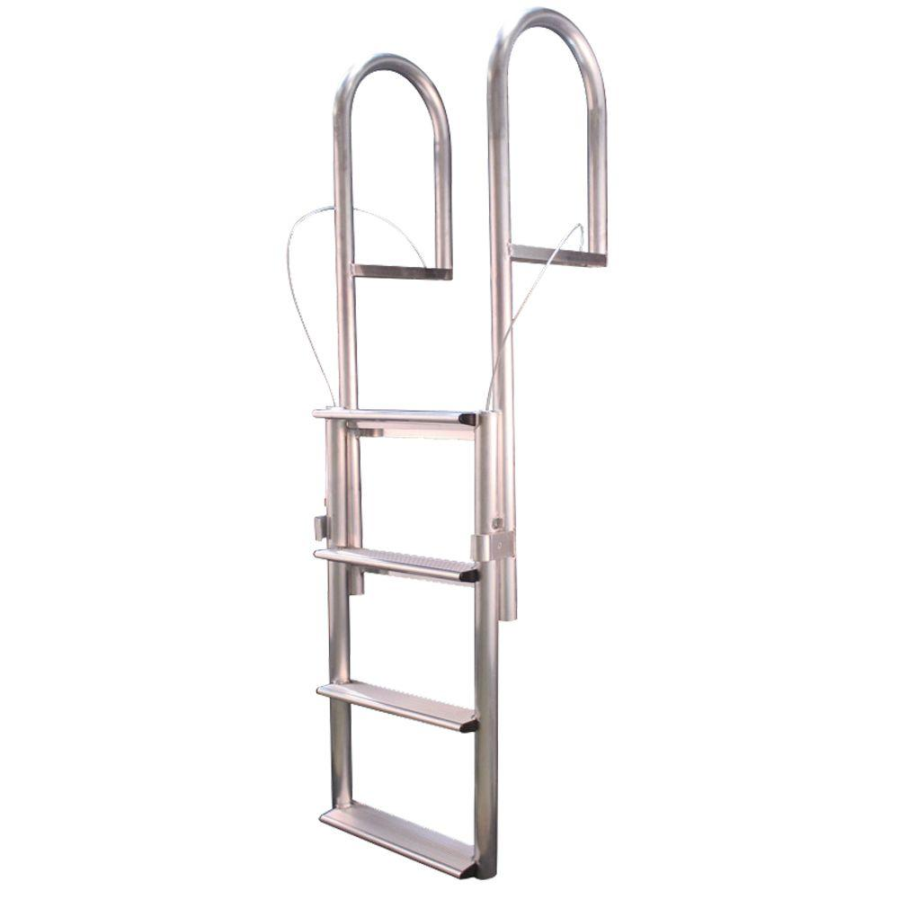 Tommy Docks 4-Step Wide Rung Aluminum Lifting Dock Ladder