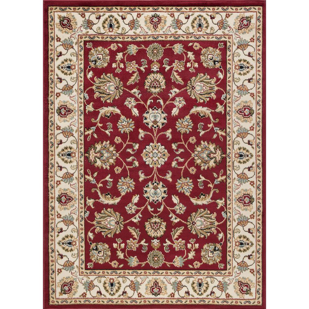 tayse rugs hampton traditional red 5 ft x 7 ft area rug hmp5400 5x7 the home depot. Black Bedroom Furniture Sets. Home Design Ideas