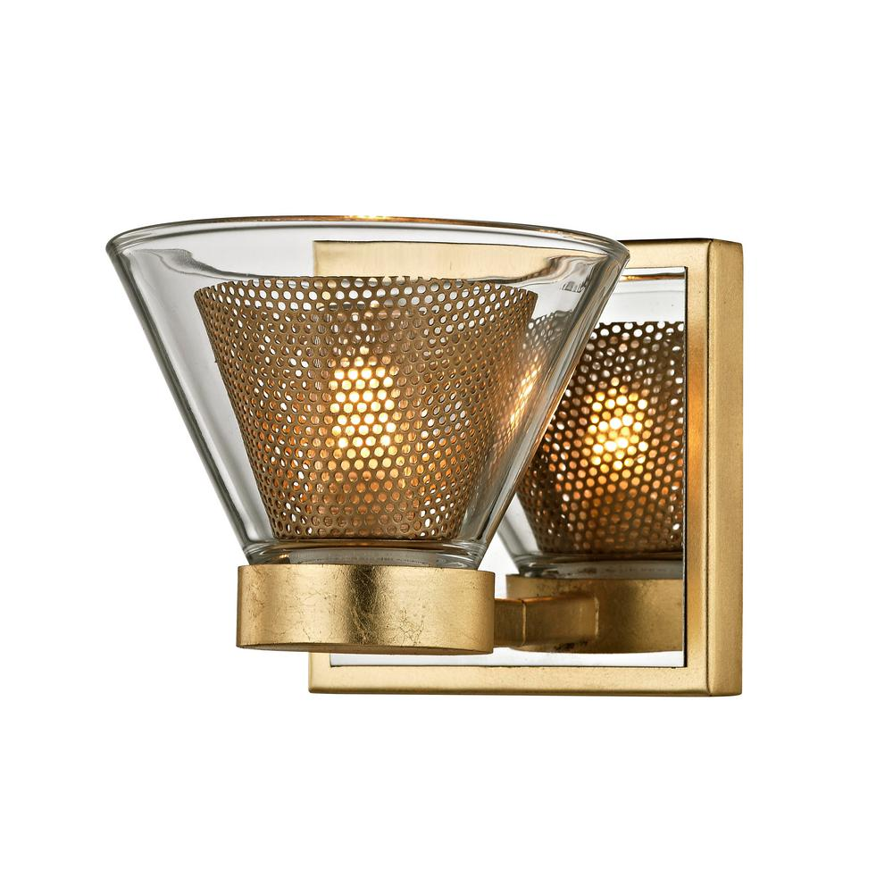 Troy Lighting Wink 1-Light Gold Leaf 5.25 in. W LED Bath Light with ...
