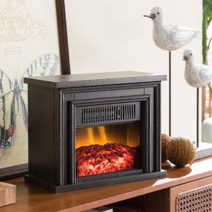 Deals on Hampton Bay 13.5 in. Desktop Electric Fireplace