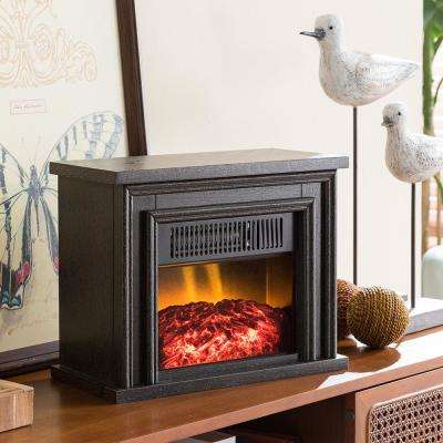 13.5 in. Desktop Electric Fireplace in Black