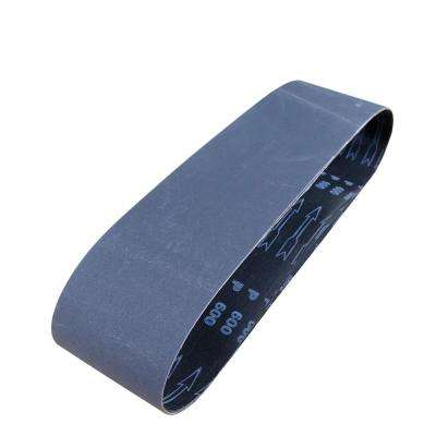 4 in. x 36 in. 600-Grit Silicon Carbide Sanding Belt (3-Pack)