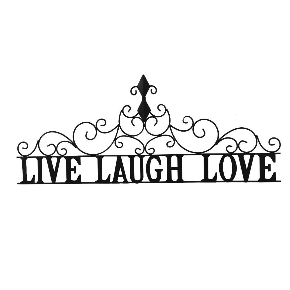 Live Laugh Love Black Metal Wall Decor