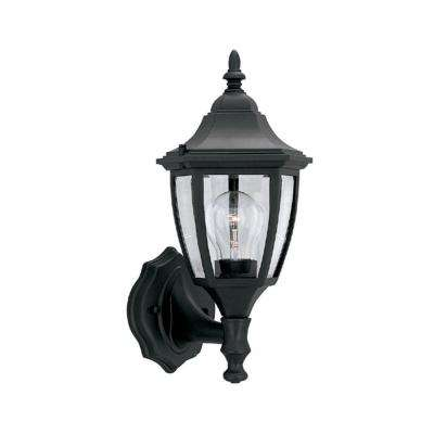 Waterbury Collection Black Outdoor Wall-Mount Lantern