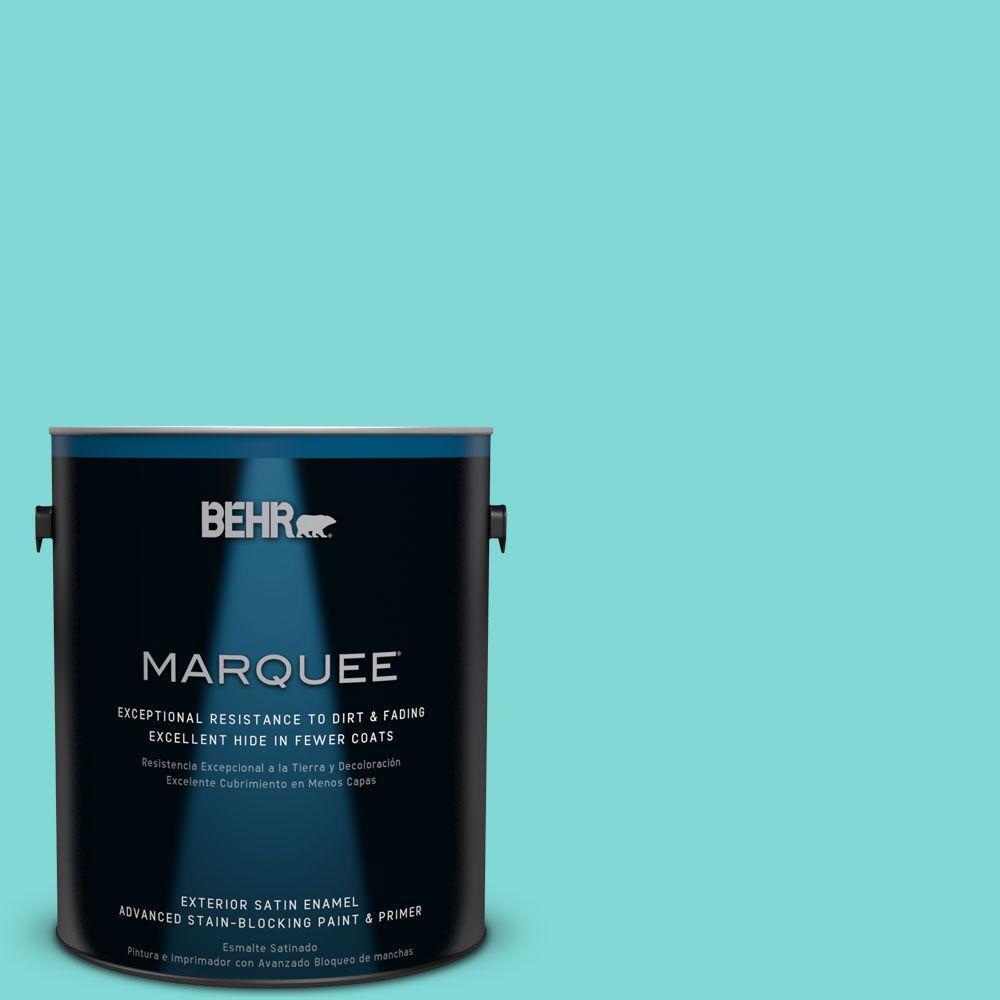 BEHR MARQUEE 1-gal. #MQ4-22 Key Largo Satin Enamel Exterior Paint
