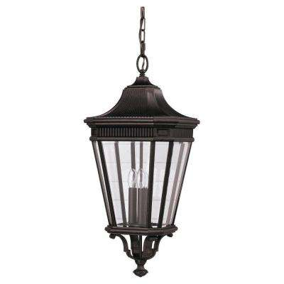 Cotswold Lane 3-Light Grecian Bronze Outdoor Hanging Pendant