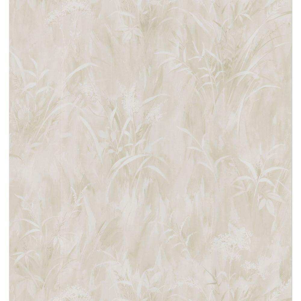Washy Style Leaf Print Wallpaper