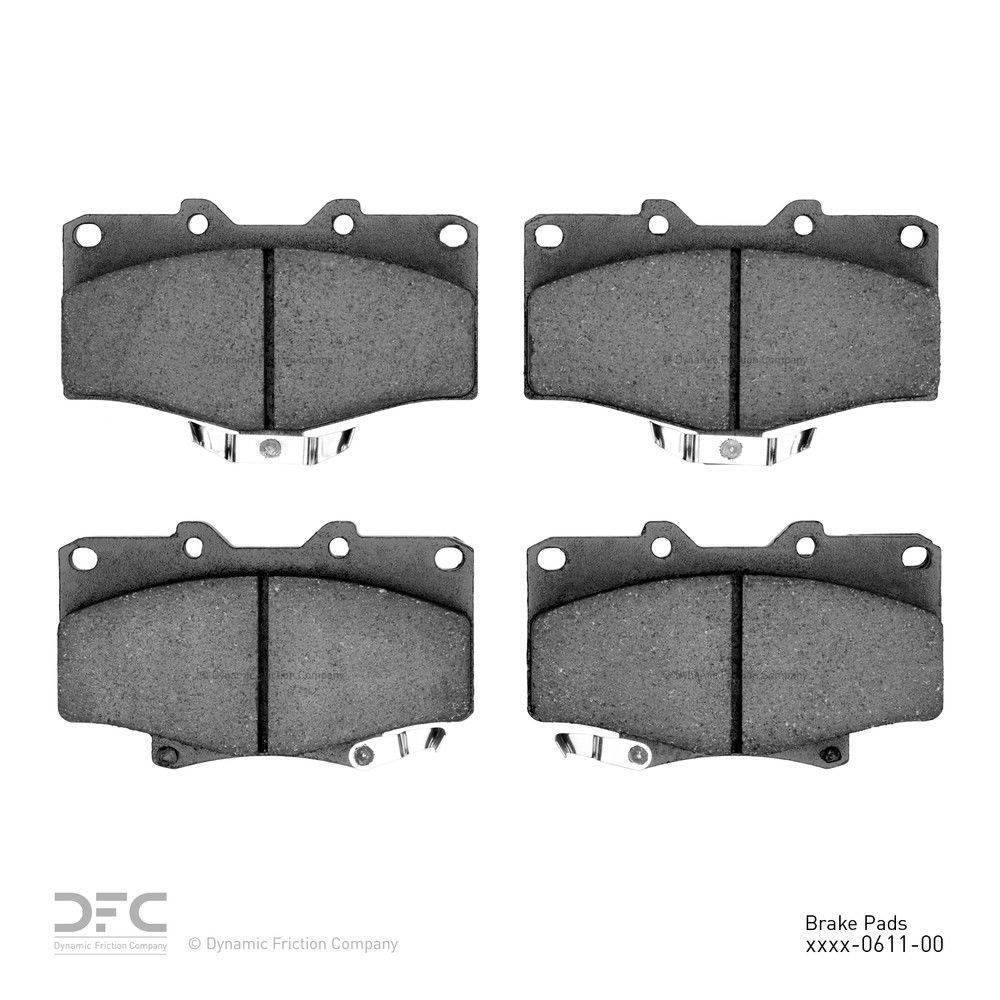 Dynamic Friction Company Dfc 5000 Advanced Brake Pads Ceramic 1551 0611 00 The Home Depot
