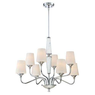 Lusso 8-Light Chrome Interior Chandelier