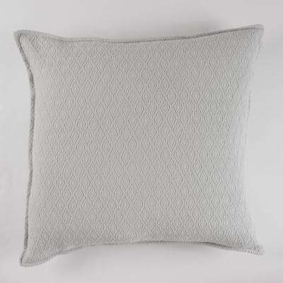 Diamond Textured Matelasse Euro Sham Light Grey