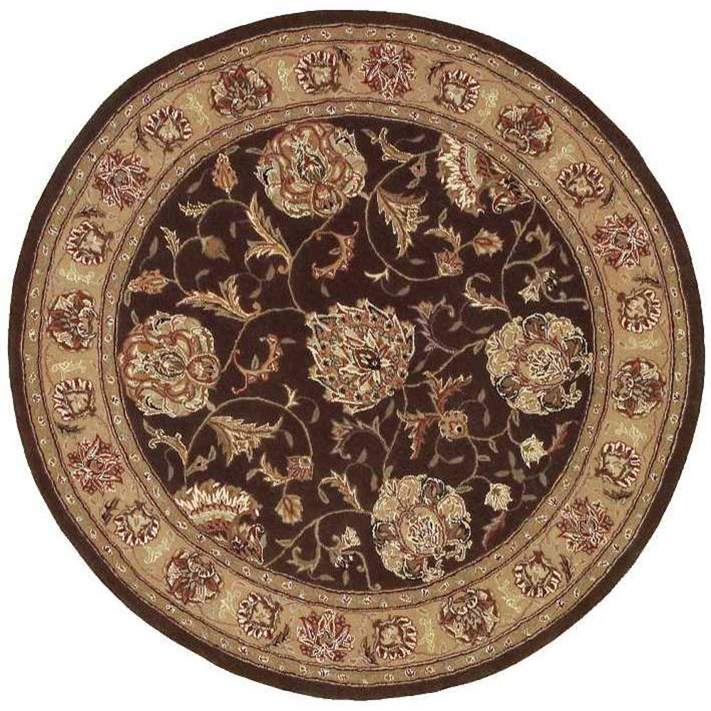 Nourison 2000 Brown 4 Ft. X 4 Ft. Round Area Rug-730145