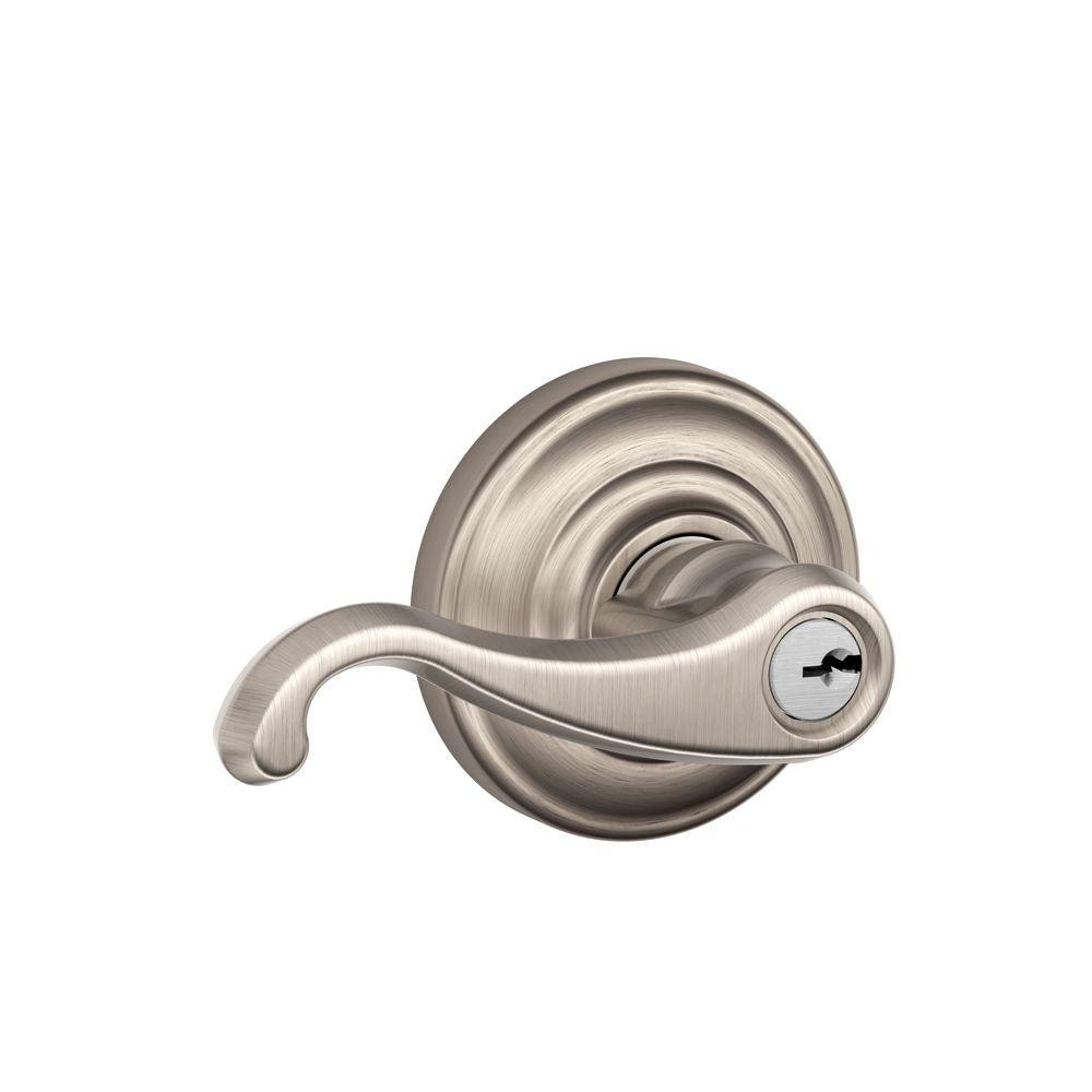 Andover Collection Satin Nickel Callington Keyed Entry Lever