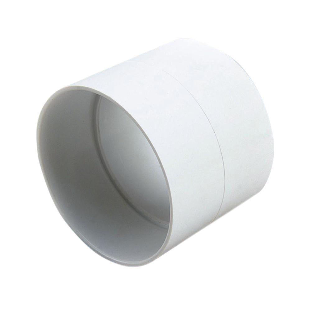 4 in. PVC Sewer and Drain Hub x Hub Coupling