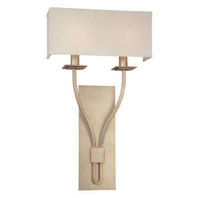 Palladium 2-Light Silver Leaf Wall Sconce