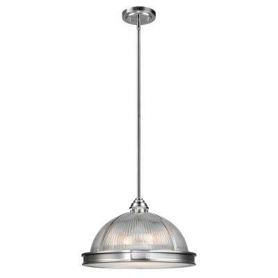 Hardware included center bowl globe electric pendant lights tarley 3 light brushed steel and clear glass hanging pendant aloadofball Choice Image