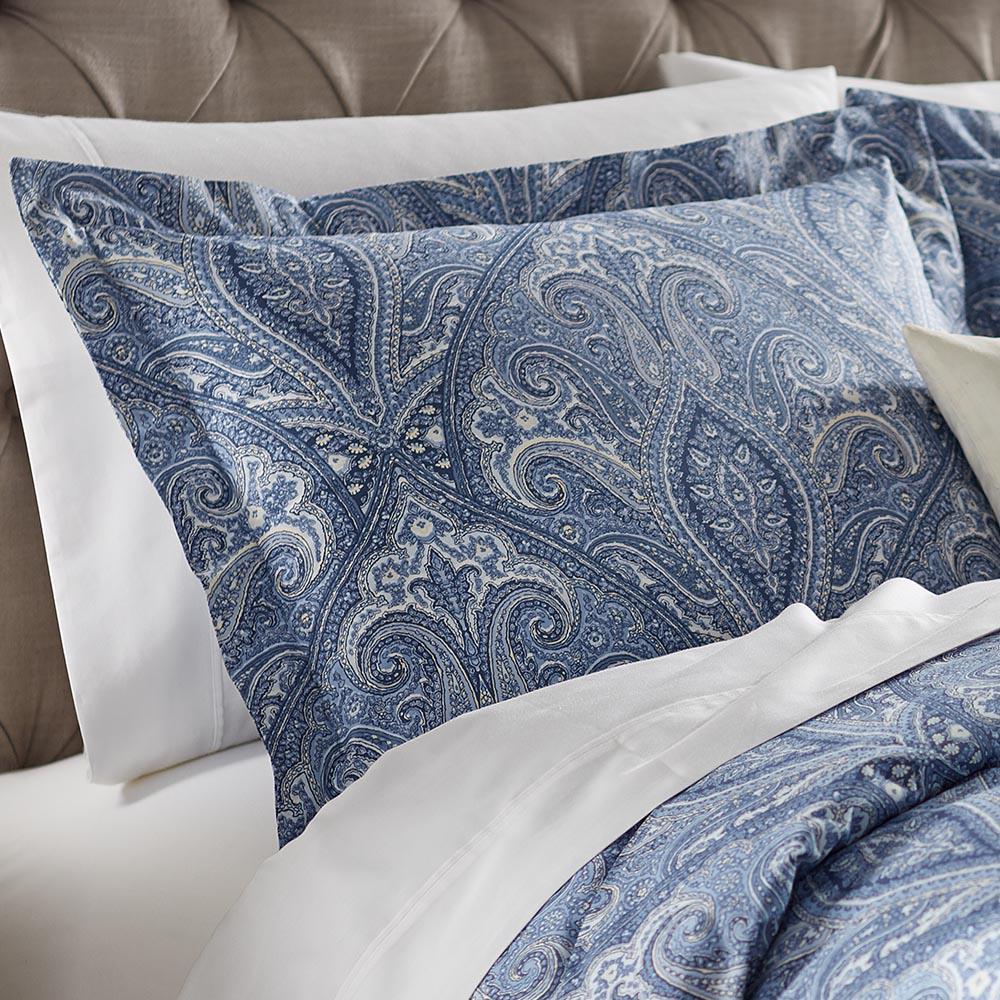 Home Decorators Collection Dandridge Indigo Euro Pillow
